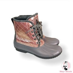 Marleylilly Monogrammed Duck Boots Size 9